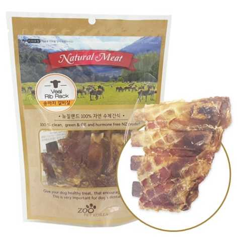 쥬펫 뉴질랜드 100%자연수제간식 송아지갈비살 80g**온라인판매가준수상품**
